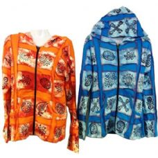 10 Units of Patchwork Cotton Handmade Nepal Jackets with Symbols - Womens Active Wear