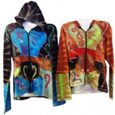 10 Units of Nepal Handmade Cotton Jackets with Hood - Womens Active Wear