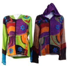 5 Units of Nepal Handmade Cotton Jackets with Hood - Womens Sweaters & Cardigan