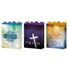 288 Units of Gift-Bag Medium Gls Faith 3 Styles - Gift Bags Assorted