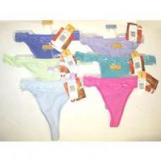 60 Units of Ladies Vassarette Cotton Thongs