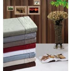 12 Units of Manhattan Light Embroidered Sheet Sets In Queen - Bed Sheet Sets