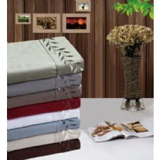 12 Units of Manhattan Light Embroidered Sheet Sets In King Size