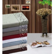 12 Units of Manhattan Light Embroidered Sheet Sets In Full