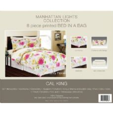 4 Units of Manhattan Light Collection 8 Piece Printed Bed In A Bag
