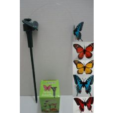 24 Units of Solar Yard Stake [Butterfly] - GARDEN DECOR