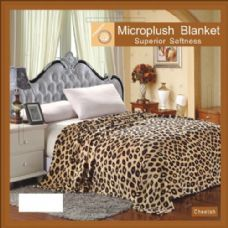 12 Units of cheetah animal print microplush blanket in queen - Micro Plush Blankets