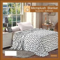 12 Units of dalmatian animal print microplush  blankets in queen - Micro Plush Blankets