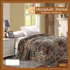 12 Units of safari animal print microplush blanket in twin - Micro Plush Blankets