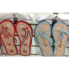 Wholesale Bulk Ladies FLoral Design Bamboo Flip Flop