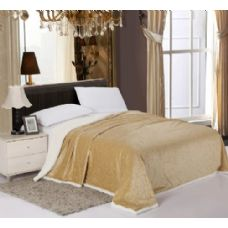 6 Units of Sherpa & Velboa Carved Reversible Blanket queen - Comforters & Bed Sets