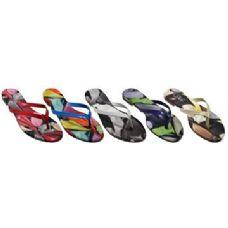 Wholesale Bulk Ladies Printed Flip Flop Sandal