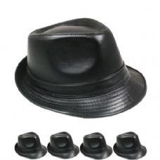 24 Units of Fedora Hat All Black - Fedoras, Driver Caps & Visor