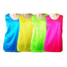 36 Units of Neon Color Mesh Tank Tops In Pink Only - Womens Camisoles / Tank Tops
