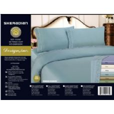 6 Units of twin  assorted colors sheet sets embroidered 300 count cotton - Comforters & Bed Sets