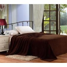 12 Units of solid brown microplush blanket in twin - Micro Plush Blankets