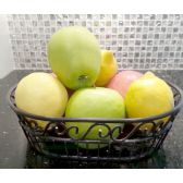 12 Units of Wholesale Black Metal Fruit Basket - Best Selling items