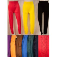 24 Units of Thin Solid Color Legging with Rhinestone Pattern - Womens Leggings