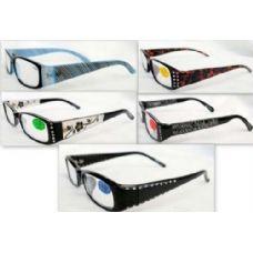 48 Units of Rhinestone Female/ Lady Reading Glasses - Reading Glasses
