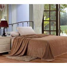 12 Units of Solid mocha microplush blanket in twin - Micro Plush Blankets