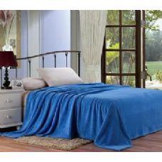 12 Units of solid slate blue microplush blanket in full - Micro Plush Blankets