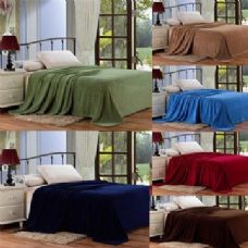 12 Units of assorted solid colors microplush blanket in full - Micro Plush Blankets
