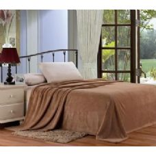 12 Units of Solid mocha microplush blanket in queen
