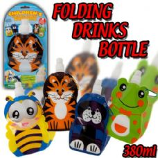 144 Units of Assorted Prints Foldable Water bottle for kids - Cooler & Lunch Bags