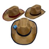 48 Units of Straw Cowboy Hat - Cowboy, Boonie Hat