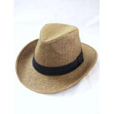 36 Units of Fashion Cowboy Hat In Brown - Cowboy, Boonie Hat