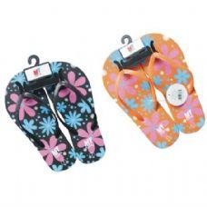 Wholesale Bulk Ladies Flower Design Flip Flops