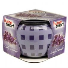 60 Units of Home Smart Globe Candle 3oz Lavender - Candles & Accessories