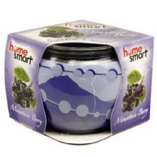 60 Units of Home Smart Globe Candle 3oz Berry - Candles & Accessories