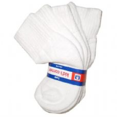 120 Units of White Cotton Kids Ankle Socks Size 4-6 3 Pack - Boys Ankle Sock