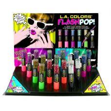 36 Units of LA Colors Flash POP Dual Nail Polish Display