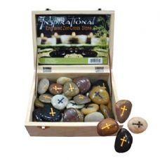 96 Units of Engraved Inspiration Stone Cross - Rocks/Stones/Sand