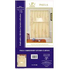 12 Units of Beige color kitchen curtain 3 piece set - Curtains