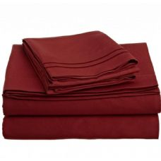 12 Units of full size 2 line embroidery sheets sets assorted colors - Bed Sheet Sets