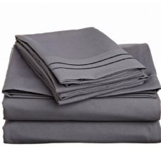 12 Units of queen size 2 line embroidery sheets sets assorted colors