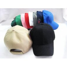 60 Units of Assorted Solid Color Baseball Cap - Baseball Caps/Snap Backs