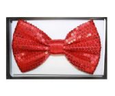 48 Units of BOWTIE AB 020 RED SEQUIN - Wholesale Apparel Accessories