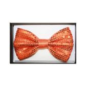 48 Units of BOWTIE AB 024 orange sequined - Wholesale Apparel Accessories