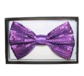 48 Units of BOWTIE AB 027 purple sequined - Wholesale Apparel Accessories