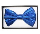 48 Units of BOWTIE AB 028 blue sequined - Wholesale Apparel Accessories