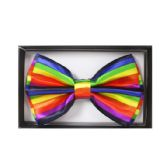 48 Units of Colorful Strip Bow Tie - Wholesale Apparel Accessories