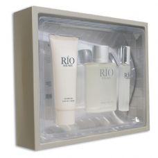 12 Units of 3 piece gift set Rio for men fragrance moisturizer/cream