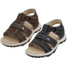 24 Units of Boy's Velcro Strap Sandals - Boys Flip Flops & Sandals