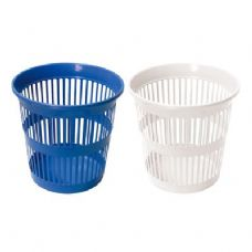 48 Units of Round Wastebasket With Slots 11. Inches Diameter x 11. Hight - Waste Basket