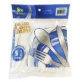 24 Units of 51 Piece Mixed Plastic Cutlery