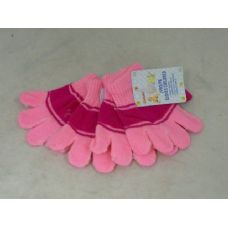 144 Units of GLOVES CHILDEN 2/PK 6ASST - Knitted Stretch Gloves